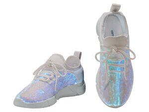 ESMARA® Sneaker Damen, mit Leuchteffekt, profilierte Phylon-Laufsohle, mit Schnürsenkeln