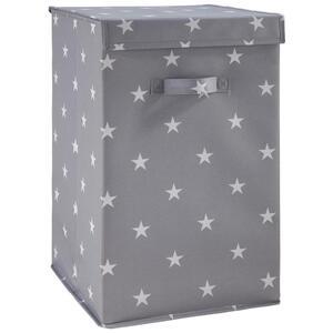 Box Sandy in Grau mit Deckel ca. 30x30x30 cm