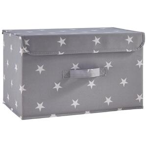 Box Sandy in Grau mit Deckel ca. 40x25x25 cm