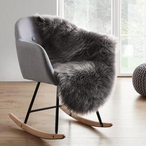 Schaffell in Grau ca. 90x60 cm 'Alena'
