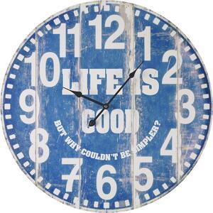 Uhr Good Life in Blau/ Weiss ca.Ø58cm
