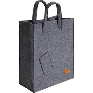 Tasche in Dunkelgrau 'Elias' ca.40x50cm