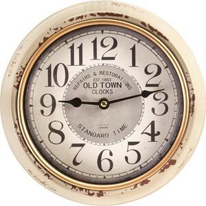 Uhr Baci in Weiss antik ca.Ø24,5cm