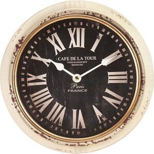 Uhr Jan in Weiss antik/ Schwarz ca.Ø24,5cm