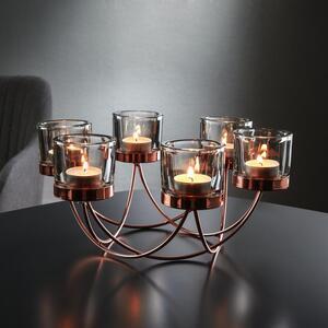 Kerzenhalter in Kupferfarbe ca. 29/9 cm 'Eike'