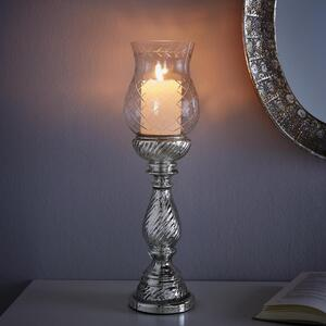 Kerzenhalter in Silberfarben H ca. 46 cm 'Charlott'