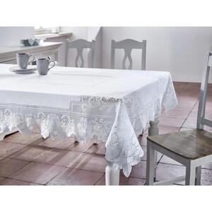 Tischdecke in Weiß ca.130/170cm ''Constance''