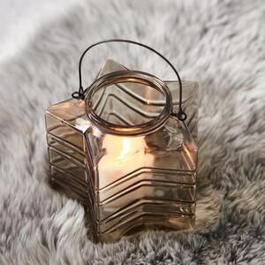 Teelichthalter in Braun Ø/H: ca. 18/17,33 cm 'Celine'