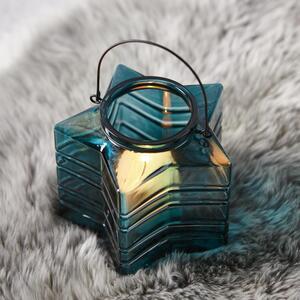 Teelichthalter in Blau Ø/H: ca. 18/17,33 cm 'Celine'