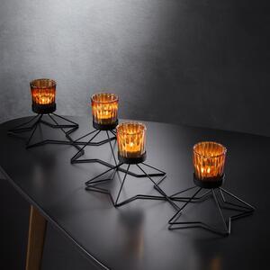 Teelichthalter in Schwarz ca. 63/12,8 cm 'Yannik'