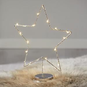 Dekostern in Silberfarben mit LED H ca.31,5cm 'Friso'