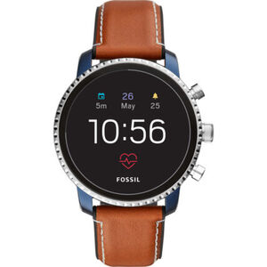 "Fossil Smartwatches Herren Touchscreen Smartwatch Explorist HR ""FTW4016"", braun"