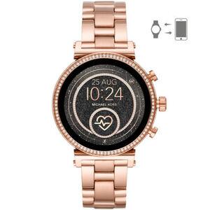 """Michael Kors Access Damen Touchscreen Smartwatch Sofie """"MKT5063"""", roségold"""