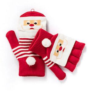 Capelli Damen Halbfinger-Strickhandschuhe Weihnachtsmann