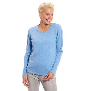 Adagio Damen Cashmere-Pullover, Rundhalsausschnitt, hellblau, 38, 38