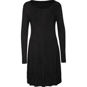 manguun collection Damen Kleid, langarm, Rundhalsausschnitt