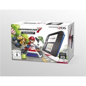 2DS - Konsole, schwarz/blau + Mario Kart 7