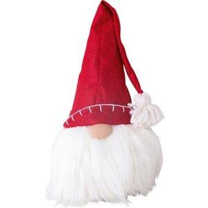Deko-Figur Wichtel Stoff mit roter Mütze groß
