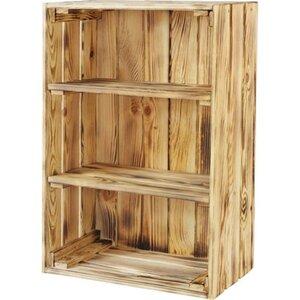 Einlegeboden für Holzkisten 2 Stück Kiefer geflammt