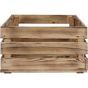 Holzkiste L Kiefer geflammt 23,9 cm x 39 cm x 29,2 cm