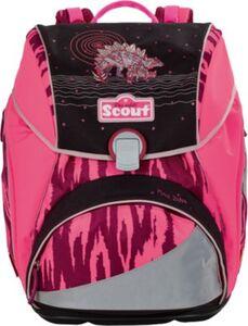 Scout Schulranzenset ALPHA Pink Dino, 4-tlg. (Kollektion 2017/2018) pink