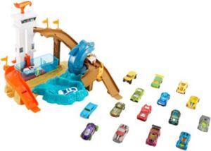 Exklusiv Hot Wheels Hai-Attacke Spielset mit Farbwechsel inkl. 18 Die-Cast Autos