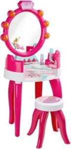 Theo Klein 5328 Barbie Schminktisch in pink Kinder ab 3 Jahren mit Hocker, inkl. Zubehör  Kleinkinder