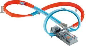 Hot Wheels Rennstrecke mit 8er-Kurve (motorisiert), Autospielset inkl. Fahrzeug