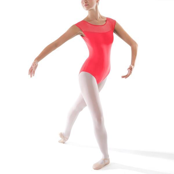 Tanzbody Ballett Kurzarm Damen koralle
