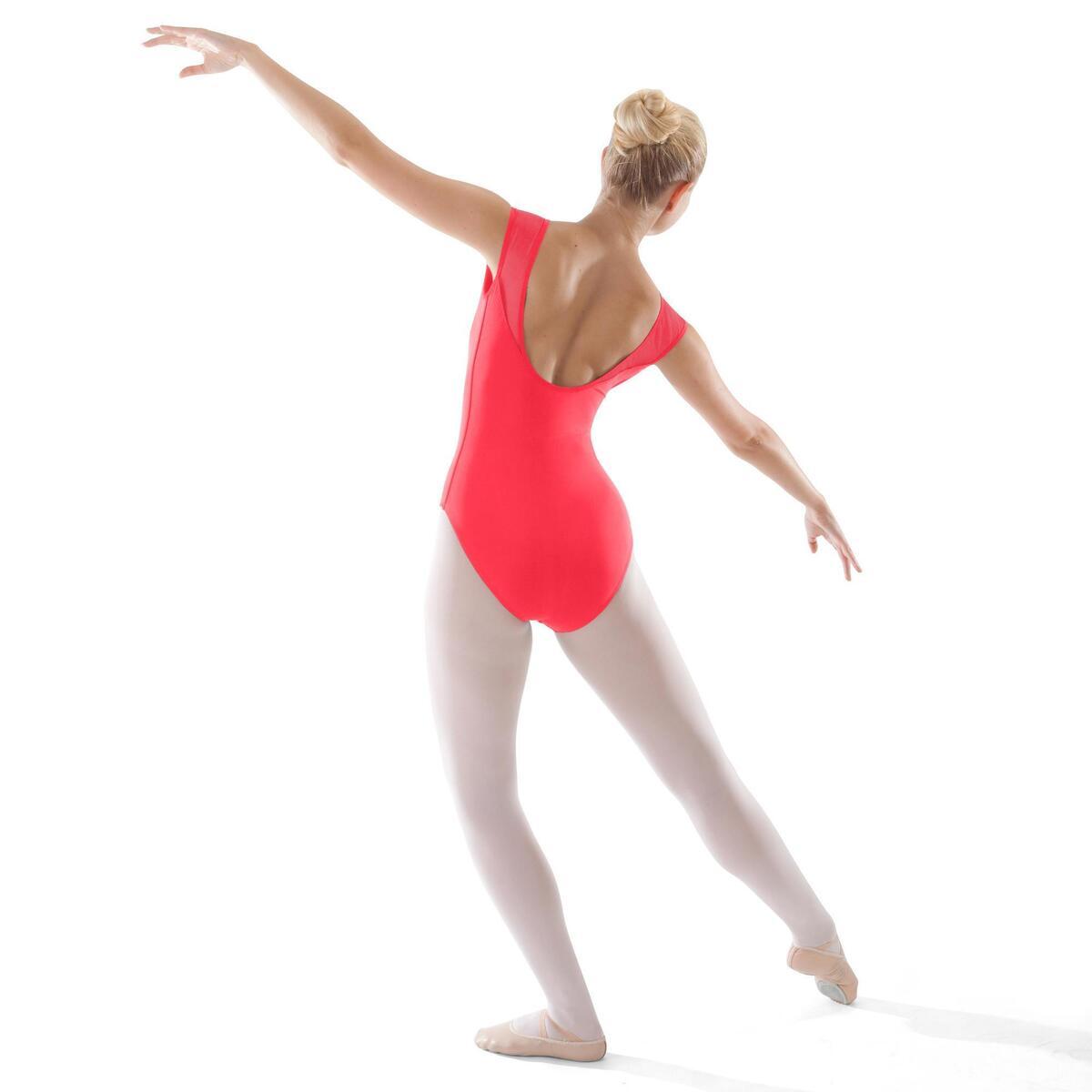 Bild 2 von Tanzbody Ballett Kurzarm Damen koralle