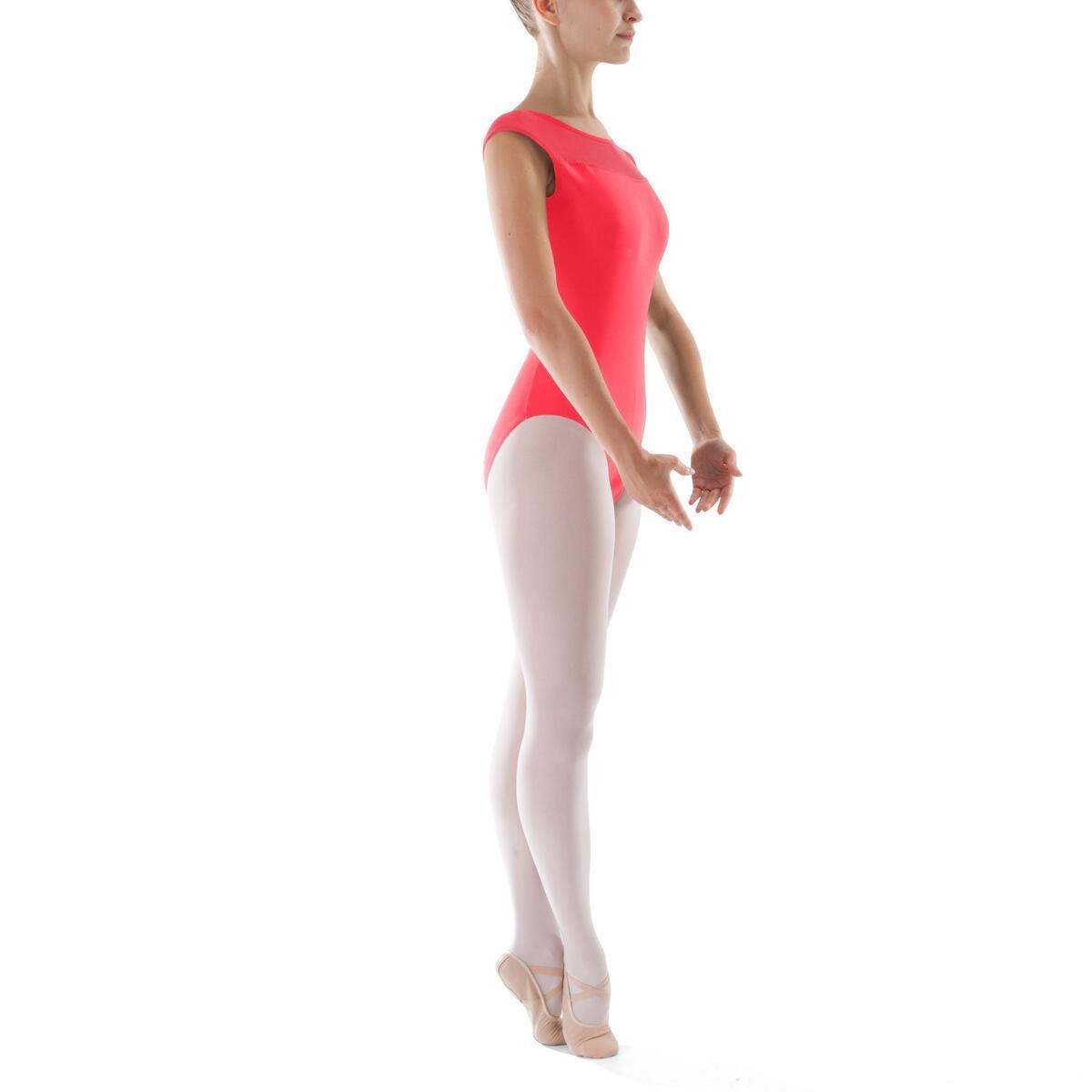 Bild 3 von Tanzbody Ballett Kurzarm Damen koralle
