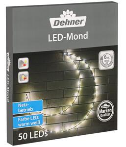 Dehner LED-Mond, 50 Lichter, warmweiß