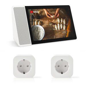 "Lenovo Smart Display mit Google Assistant 10,1"", Full-HD IPS Display +2er Pack Nedis WLAN Smart Stecker"