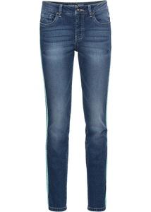 Verkürzte Skinny Jeans mit Racerstripe