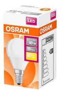 OSRAM  LED-Tropfen E14 matt