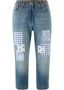 Boyfriend Capri Jeans mit Applikationen