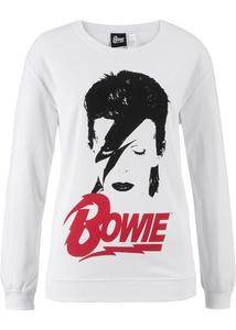 Sweatshirt David Bowie, Langarm