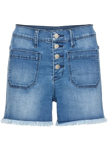 High-Waist Jeans-Shorts