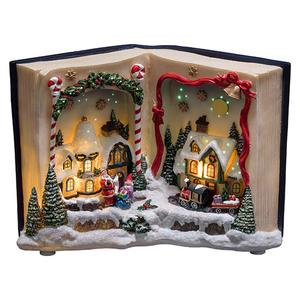 Konstsmide LED-Weihnachtsleuchte Szene Buch mit Landschaft