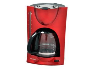 SCHOTT SC KA 1050 R Kaffeemaschine mit Glaskanne in Rot/Metallic