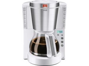 MELITTA 1011-07 Look Timer 209828 Kaffeemaschine mit Glaskanne mit Tassenskalierung in Weiß/Edelstahl