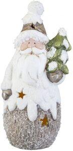 LED-Nikolaus - aus Terrakotta - 9 x 9 x 20 cm