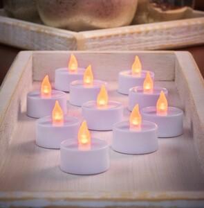 I-Glow LED Teelichter, 10er - Bernsteinfarben