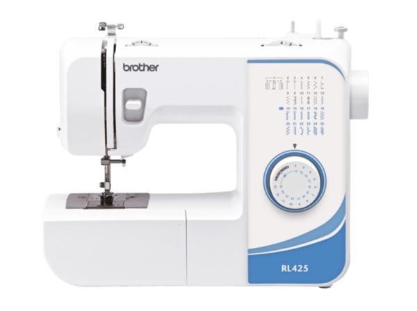 BROTHER RL425 (25 Stiche) Freiarm-Nähmaschine in Weiß/Blau