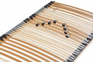 Lattenrost, »Vital 33 KF«, Beco, 33 Leisten, Kopfteil manuell verstellbar, ideal für Doppelbetten, 7 Zonen, Härte einstellbar