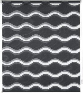Doppelrollo »Wellen«, Guido Maria Kretschmer Home&Living, Lichtschutz, ohne Bohren, democratichome Edition