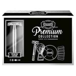 Wilkinson Geschenkset Premium Collection mit Apparat , Klingen, Pinsel und Seife Je Set