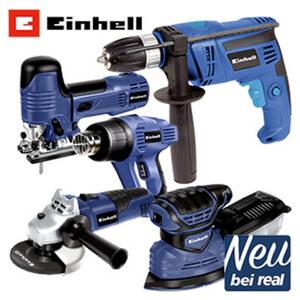 Werkzeugmaschinen-Set bestehend aus: - Winkelschleifer (500 W) - Pendelhub-Stichsäge (750 W) - Schlagbohrmaschine (710 W) - Multischleifer (180 W) - Heißluftpistole (2.000 W)