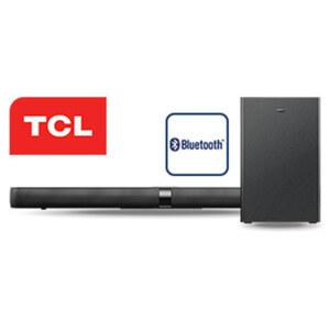 2.1-Bluetooth®-Soundbar TS7010-EU mit Funk-Subwoofer • 2 x 80 Watt RMS • optischer Audio-/Aux-Eingang, HDMI-/USB-Anschluss • Maße Soundbar: H 6,4 x B 92 x T 9,8 cm • Maße Subwoofer: H 32,8