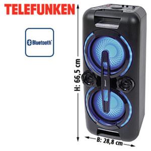 Bluetooth®-Party-Lautsprecher BS1022 mit UKW-Radio • Bass-Boost • USB-/3,5-mm-Klinken-Anschluss • 2 Mikrofon-Anschlüsse • Netz- oder Batteriebetrieb